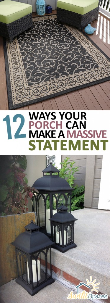 12 Ways Your Porch Can Make a Massive Statement| Porch Decor, Porch Decor Ideas, How to Decorate Your Porch, Fast Ways to Decorate Your Porch, Holiday Porch Ideas, DIY Porch, DIY Porch Decor, Popular Pin