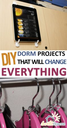 DIY Dorm Projects That Will Change EVERYTHING| DIY Dorm Projects, Dorm Room Projects, Dorm Room Organization, Dorm Room Decor, Room Decor, College Hacks, College Tips and Tricks, Popular Pin