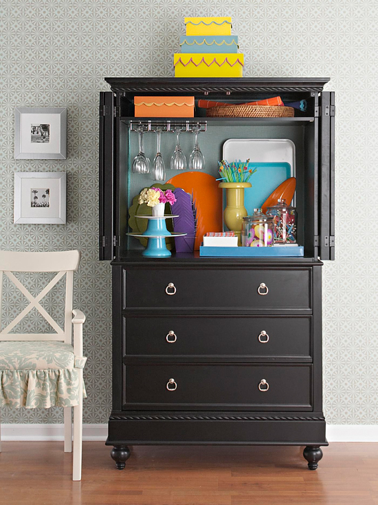 How To Organize With Repurposed Armoires