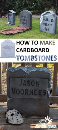 Cardboard Tombstones, DIY Cardboard Tombstones, Halloween Home Decor, DIY Halloween Decor, Outdoor Halloween DIYs
