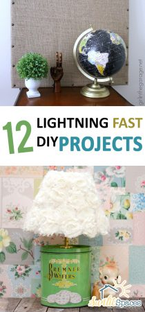 12 Lightning Fast DIY Projects| Easy DIY Projects, DIY Projects for the Home, DIY Home Projects, Easy DIY Crafts, Simple DIYs