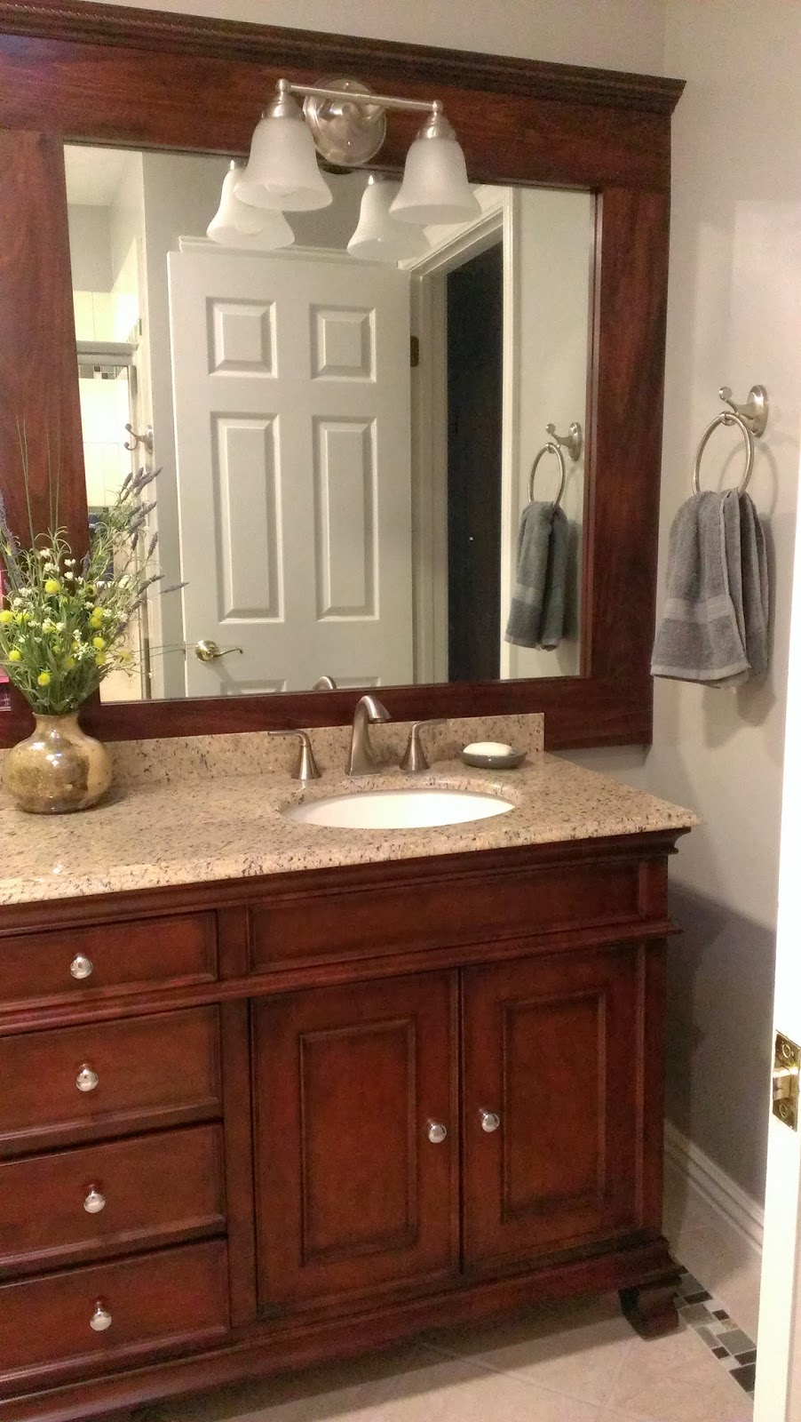 How to Frame Your Bathroom Mirror in Practically No Time  Frame Your Bathroom Mirror, Bathroom Updates, How to Update Your Bathroom Fast, Easy Ways to Frame Your Bathroom Mirror, Easy Bathroom Updates, Popular Pin