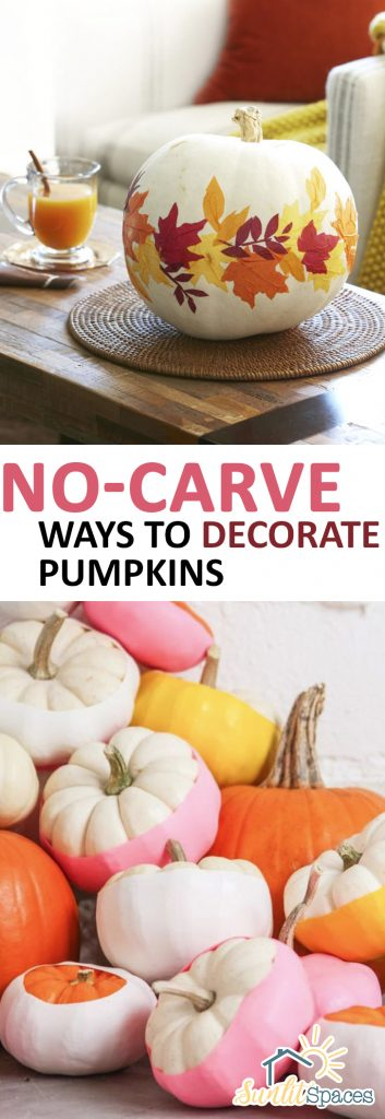 No-Carve Ways to Decorate Pumpkins| Pumpkin Decor, DIY Pumpkin Decor, How to Decorate Pumpkins, No Carve Ways to Decorate Pumpkins, Simple Ways to Carve Pumpkins, How to Carve Pumpkins Without Sharp Tools, Popular Pin