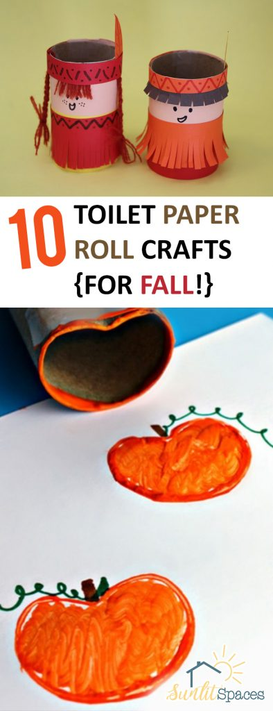 10 Toilet Paper Roll Crafts {for Fall!}| Toilet Paper Crafts, Toilet Paper Roll Crafts, Crafts, Crafts for Fall, Fall Crafts, Toilet Paper Roll DIYs. #FallCrafts #ToiletPaperRollCrafts #AutumnCrafts