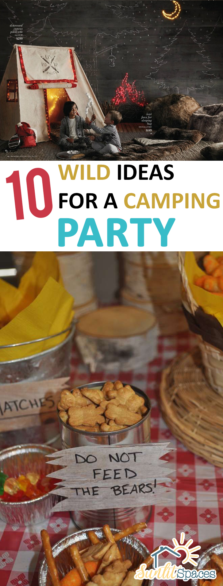 10 Wild Ideas For An Indoor Camping Party