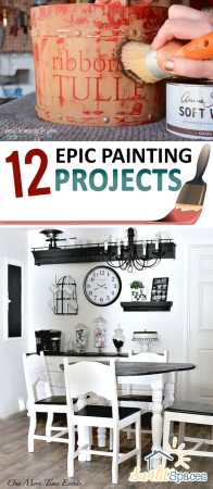 12 EPIC Painting Projects| Painting Projects, DIY Home, Painted Furniture, Painted Furniture Projects, DIY Furniture, Painting Furniture, Painted Furniture Projects. #PaintedFurniture #DIYFurniture #DIYFurnitureProjects