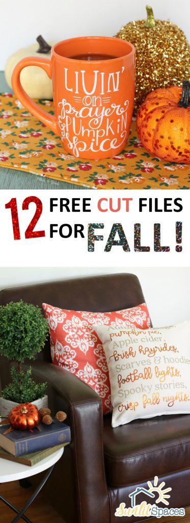 12 Free Cut Files for Fall!| Cricut Files for Fall, Cricut Home Decor, Fall Home Decor, Free Cut Files, Autumn, Fall Crafts, Cut Files for Fall, Cricut Crafts, Popular Pin #Cricut #CricutFiles #FreeCricutFiles