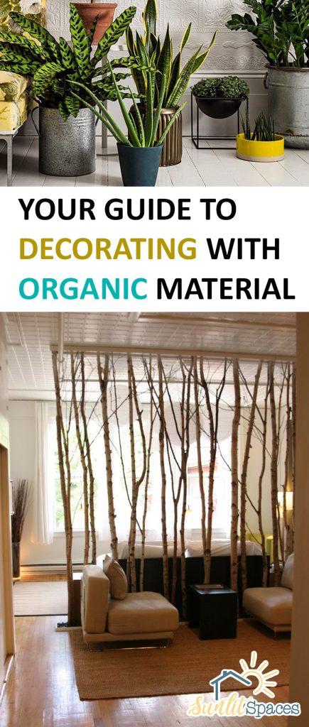 Your Guide to Decorating With Organic Material| Decorating Tips, Organic Decorating, Decorating Hacks, Decorating With Organic Material, Interior Design #InteriorDesign #HomeDecor #HomeDecorHacks