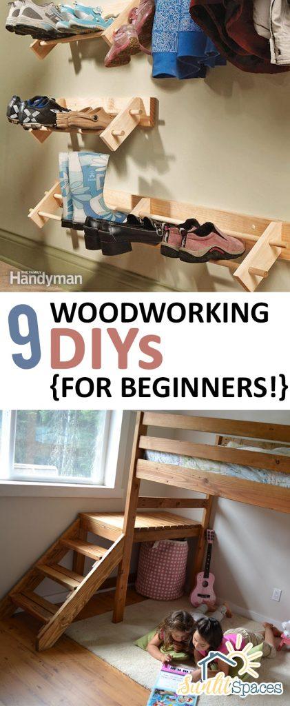 9 Woodworking DIYs {for Beginners!}  Woodworking Craft Projects, DIY Woodworking Crafts, Craft Projects, Woodworking DIYs, DIY Craft Projects, Easy Craft Projects, Popular Pin #Woodworking #WoodworkingDIYs #EasyCrafts #EasyCraftProjects