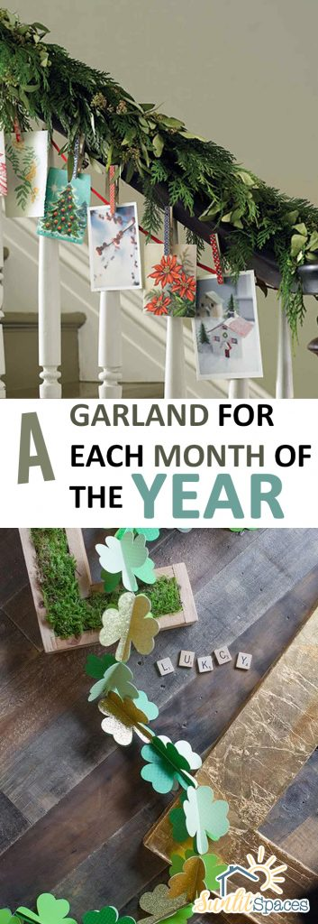 A Garland For Each Month of the Year| Garland, Garland Craft Projects, Holiday Garlands, DIY Garland Projects, Holiday Crafts, Holiday Craft Projects, Popular Pin #DIYGarland #GarlandCrafts #HolidayGarlands
