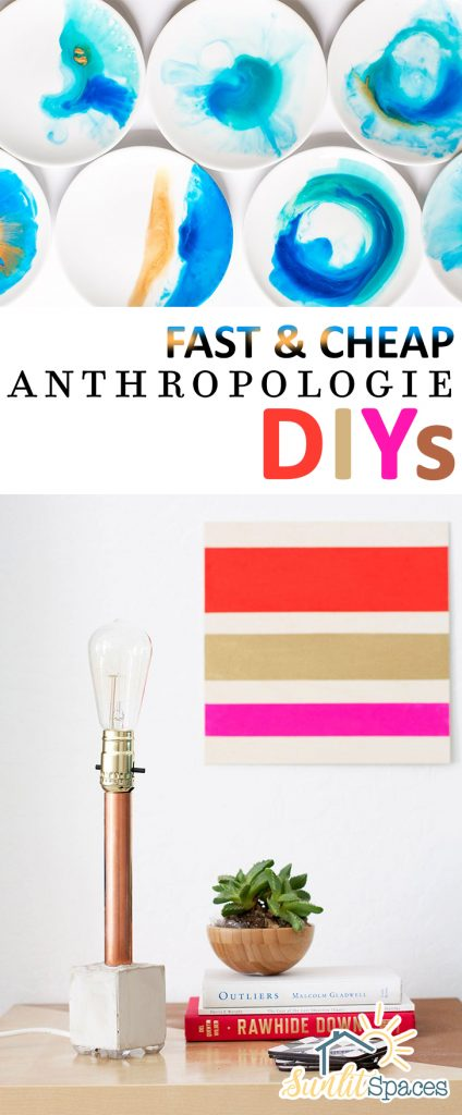Fast & Cheap Anthropologie DIYs| Anthropologie Knock Offs, Home Decor, Home Decor Projects, DIY Projects, DIY Projects for theHome, Anthropologie DIYs #DIYHome #HomeDecor #Anthropologie