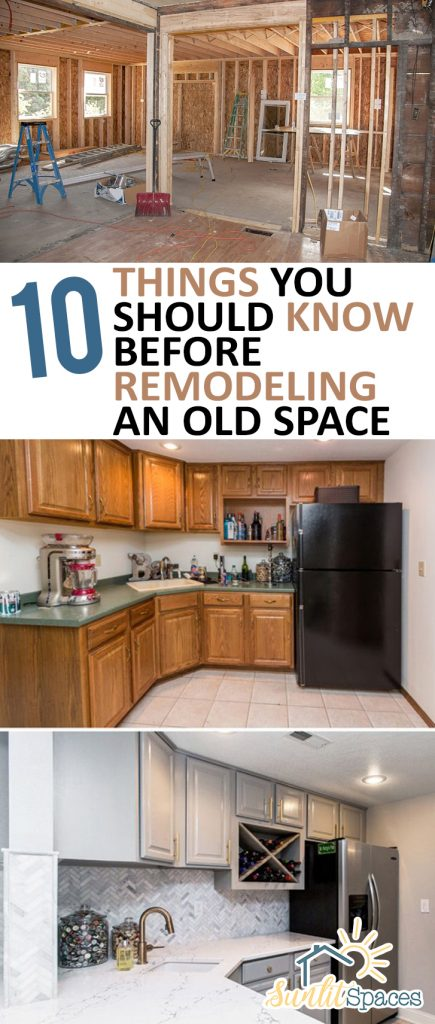 10 Things You Should Know Before Remodeling an Old Space| Remodeling, Home Remodeling, Easy Home Remodel, Easy Home Remodeling, Home Remodeling Projects, DIY Home, DIY Home Improvements, How to Remodel And Old Space, DIY Home Stuff, Popular Pin #Home #HomeImprovement