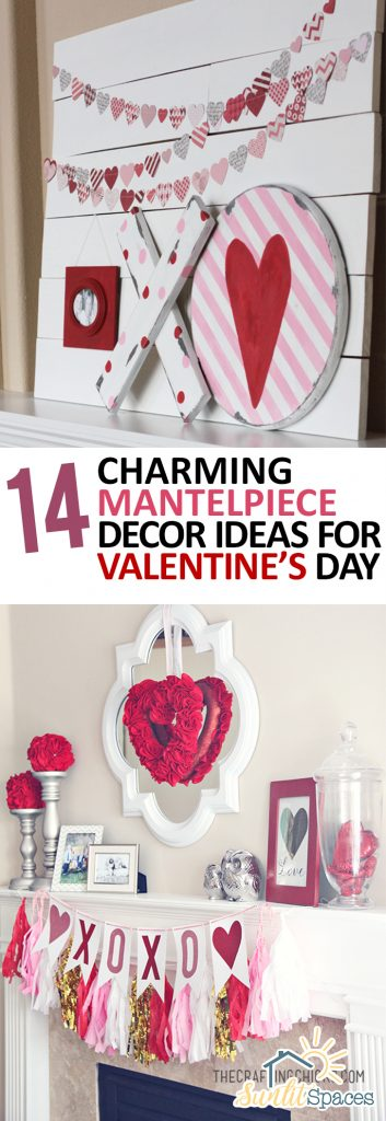 114 Charming Mantelpiece Decor Ideas for Valentines Day| Valentines Day Decor, Mantelpiece Decor, Mantelpiece DIYs, Holiday Home, Holiday Home Decor #ValentinesDay #HolidayHome