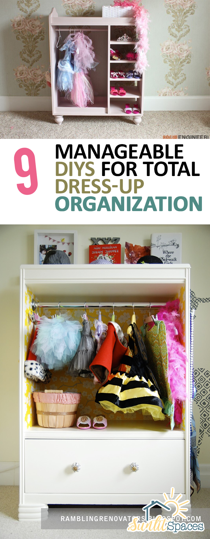 9 Manageable DIYs for Total Dress-Up Organization  Organization, Dress Up Organization, Dress Up Organization Hacks, DIY Organization, DIY Organization Ideas, Organization Hacks, Dress Up Organization #Organization #DIYOrganization