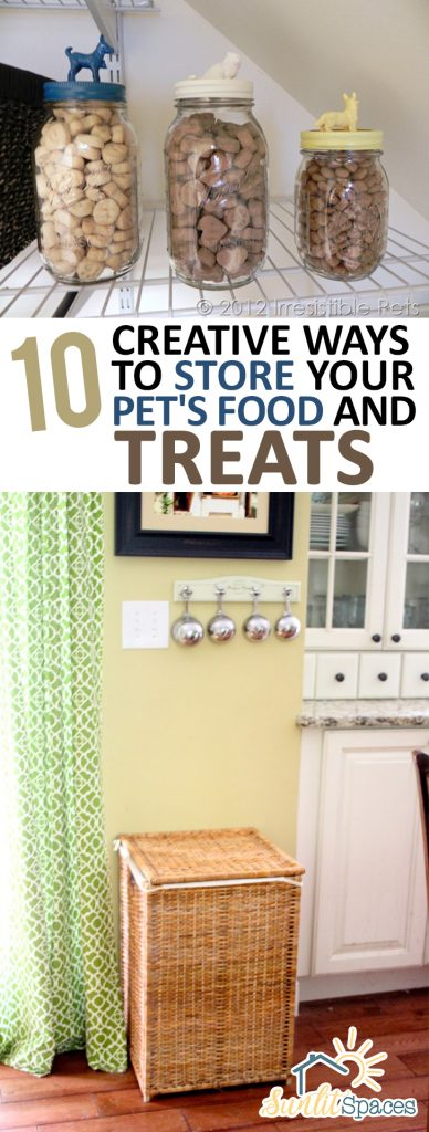 10 Creative Ways to Store Your Pet's Food and Treats| Organization, Home Organization, Home Storage, Home Storage and Organization, Storage Ideas, Pet Food, Pet Food Storage, Pet Food Organization Popular Pin #HomeStorage #Organization