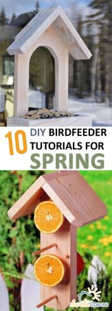 10 DIY Birdfeeder Tutorials for Spring| Bird Tutorials, Spring Bird Tutorials, Bird Tutorials for Spring, DIY Spring, Spring Decor, Outdoor Decor, DIY Outdoor Decor, Birdfeeder Tutorials, DIY Birdfeeder, Easy Birdfeeder Projects, Popular Pin #Birdfeeder #DIYBirdFeeder