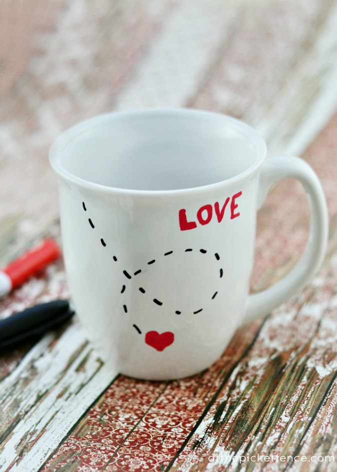 10 do it yourself valentines day gifts for mom page 2 of 12 diy love mug from at the picket fence solutioingenieria Image collections