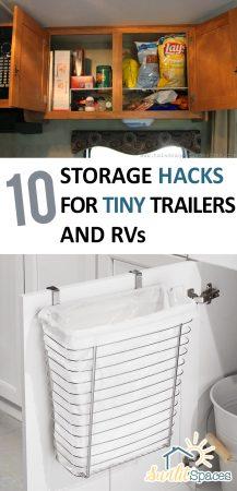 10 Storage Hacks for Tiny Trailers and RVs| Storage Hacks, Trailer Storage Hacks, Easy Storage, Home Organization and Storage, Easy Home Organization, Easy Home Storage, Easy Storage and Organization #Organization #TrailerOrganization #Storage