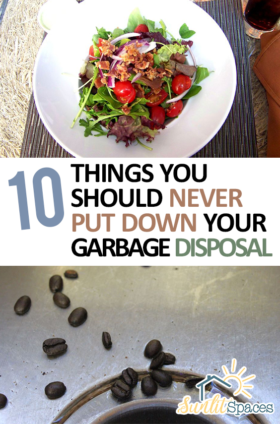 10 Things You Should Never Put Down Your Garbage Disposal| Kitchen, Kitchen Hacks, DIY Kitchen Hacks, Garbage Disposal Care, Caring for Your Garbage Disposal, Cleaning and Caring for Your Garbage Disposal, Garbage Disposal Care 101, Popular Pin #GarbageDisposal #Cleaning