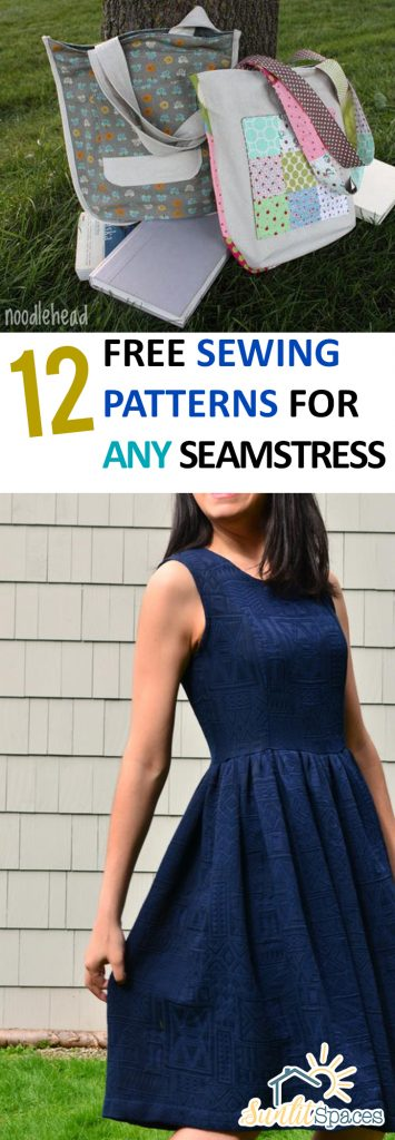 12 Free Sewing Patterns for ANY Seamstress| Sewing Patterns, Easy Sewing Patterns, Sewing Patterns for Seamstresses, DIY Sewing, DIY Sewing Projects, Sewing Projects, SImple Sewing Projects, DIY Sewing, DIY Sewing Projects, Popular Pin #SewingProjects #Sewing