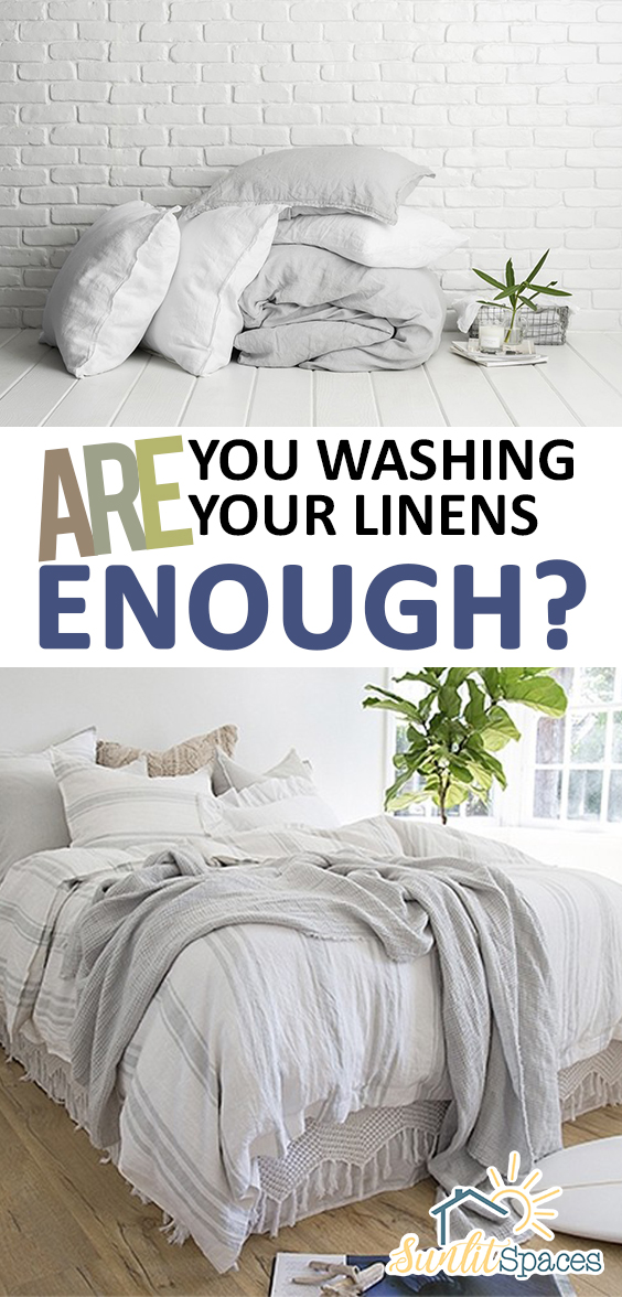 Are You Washing Your Linens Enough?| Washing Linens, How to Wash Your Linens, Cleaning, Cleaning Hacks, Cleaning HAcks for the Home, How to Wash Your Linens, Easily Wash Your Linens, Popular Pin #Linens #Cleaning #WashYourLinens