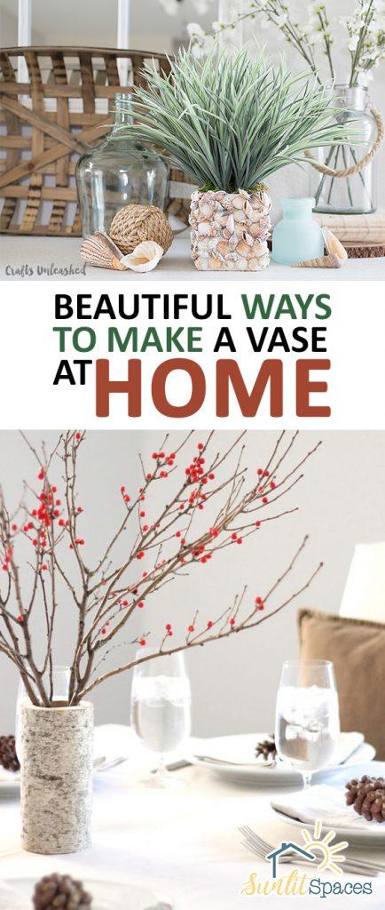 Beautiful Ways to Make a Vase at Home| DIY Vase, Vase Projects, DIY Home, DIY Home Decor, DIY Crafts, Easy Crafts, Crafts for the Home, Simple Crafts, Simple Home Crafts, Crafts, Crafts Projects, Popular Pin #DIYVase #DIYHome