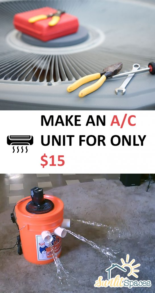 The inexpensive way to build your own home air conditioning unit!| DIY, DIY Home, Home Projects, Home Improvement, Home Improvement Projects, Easy Home Improvement, Easy Home Improvement Projects, DIY Air Conditioner, Air Conditioner, Easy Air Conditioner, Popular Pin #HomeImprovment #AirConditioner #DIYAirConditioner