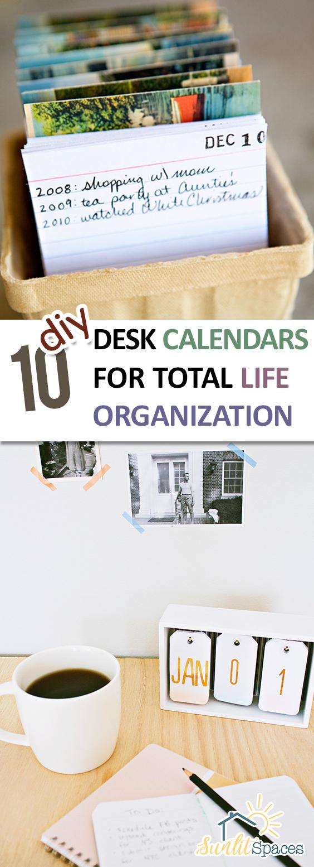 Diy Desk Calendar Ideas : Diy desk calendars for total life organization