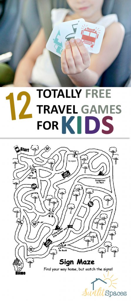 12 Totally Free Travel Games for Kids| Games, Games for Kids, DIY Games for Kids, Kids Crafts, Kids DIY #GamesforKids #KidsCrafts #TravelKidsActivities