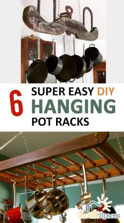 6 Super Easy DIY Hanging Pot Racks| Pot Racks, Pot Racks Hanging, DIy Hanging Pot Racks, DIY Home Decor, DIY Crafts, DIY Room Decor #PotRacks #PotRacksHanging #HangingPotRacks