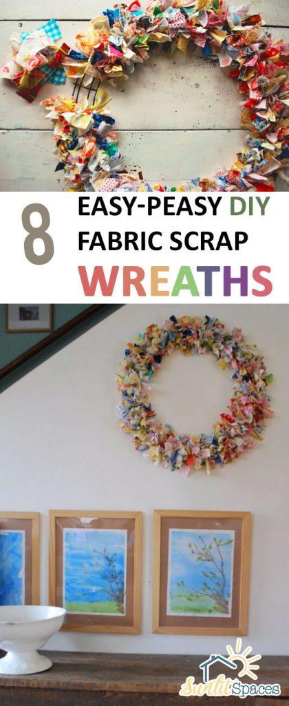 8 Easy-Peasy DIY Fabric Scrap Wreaths| Fabric Scraps Ideas, Fabric Scrap Projects, Fabric Scraps, Fabric Scrap Projects No Sew, DIY Wreath, DIY Wreath Front Door #FabricScrapsIdeas #FabricScrapsProjects #FabricScraps #DIYWreathFrontDoor