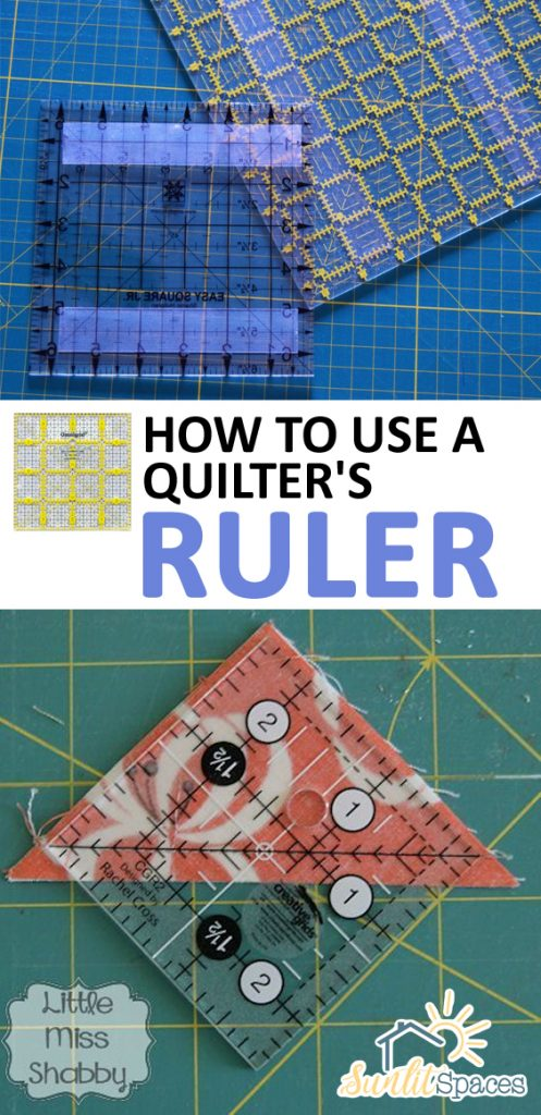 How to Use a Quilter's Ruler| Quilters Ruler, Quilting Hacks, Sewing For Beginners, Sewing #Sewing #SewingforBeginners, #QuiltingHacks