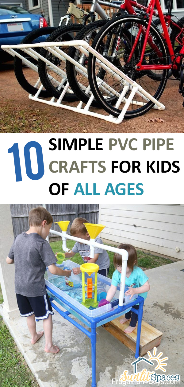 10 simple pvc pipe crafts for kids of all ages for Fun crafts for all ages