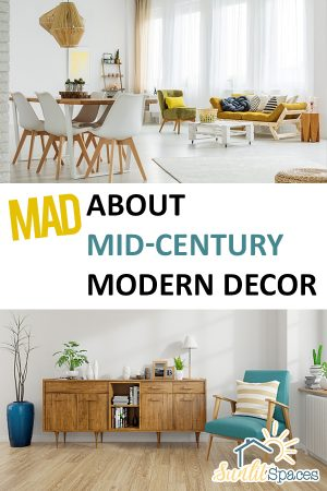 Mid Century Modern Decor | Modern Decor | Mid Century Inspired Home Decor | Home Decor | DIY Home Decor | Home