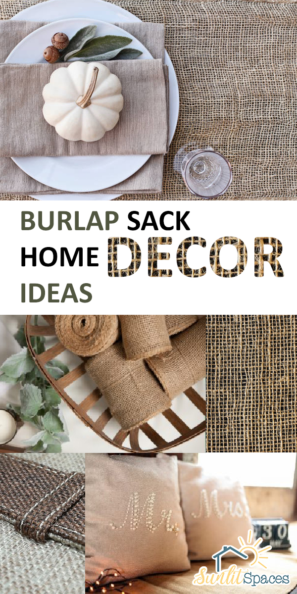 Burlap Sack Home Decor Ideas