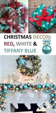 Tiffany Blue | Red, White, and Tiffany Blue | Red, White, and Tiffany Blue Christmas Decor | Chrismtas | Christmas Color Scheme | Christmas Decor Ideas | Christmas Color Scheme Ideas