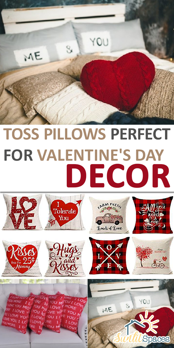 Valentine's Day decor | valentines day decor | toss pillows for valentines day decor | toss pillows | valentine | valentines day | decor | home decor