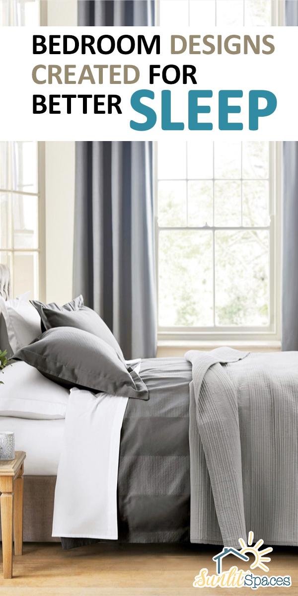 Bedroom Designs Created For Better Sleep | bedroom designs | bedroom | design | sleep | better sleep | ways to get better sleep | how to sleep better
