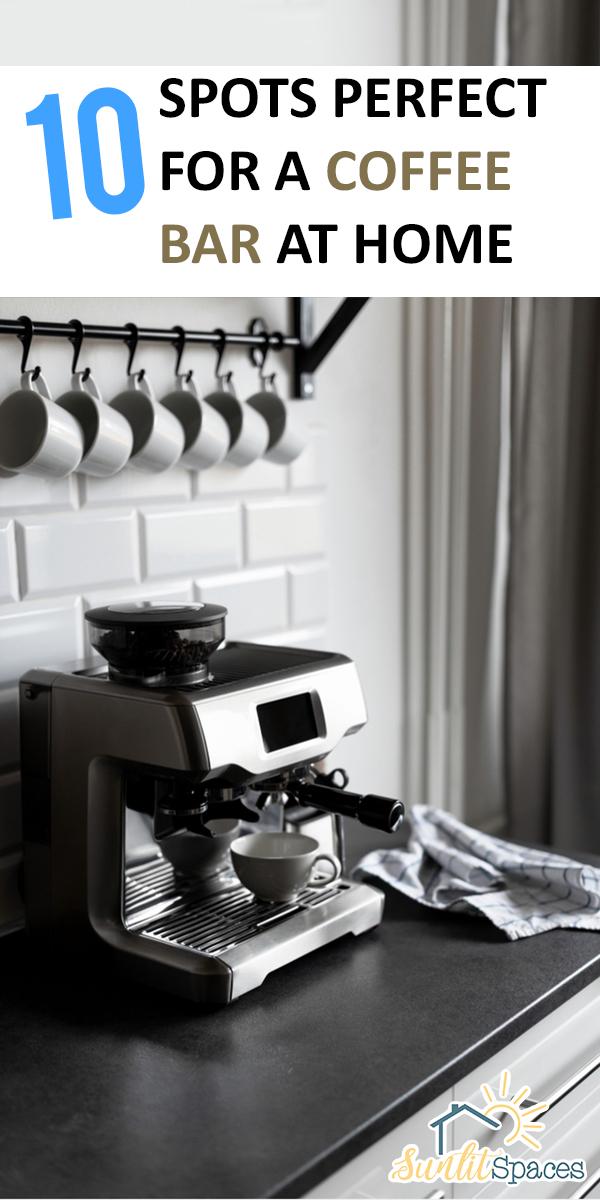 Coffee Bar At Home | diy ideas | coffee bar | at home coffee bar | kitchen ideas | kitchen design | coffee lover | diy coffee bar