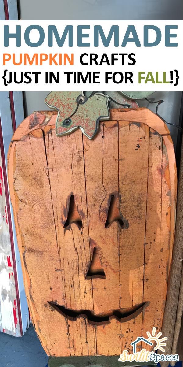 Homemade Pumpkin Crafts | craft | diy | diy ideas | pumpkin crafts | fall | fall crafts