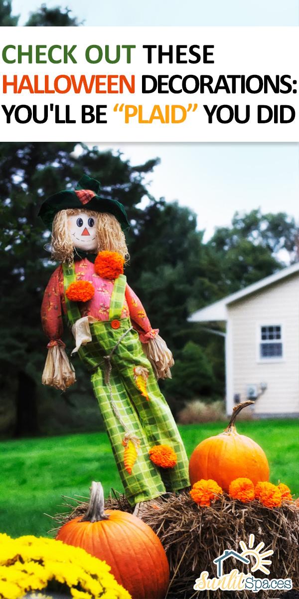 Halloween decorations | Plaid Halloween Decorations | plaid | Halloween | decorations | decor