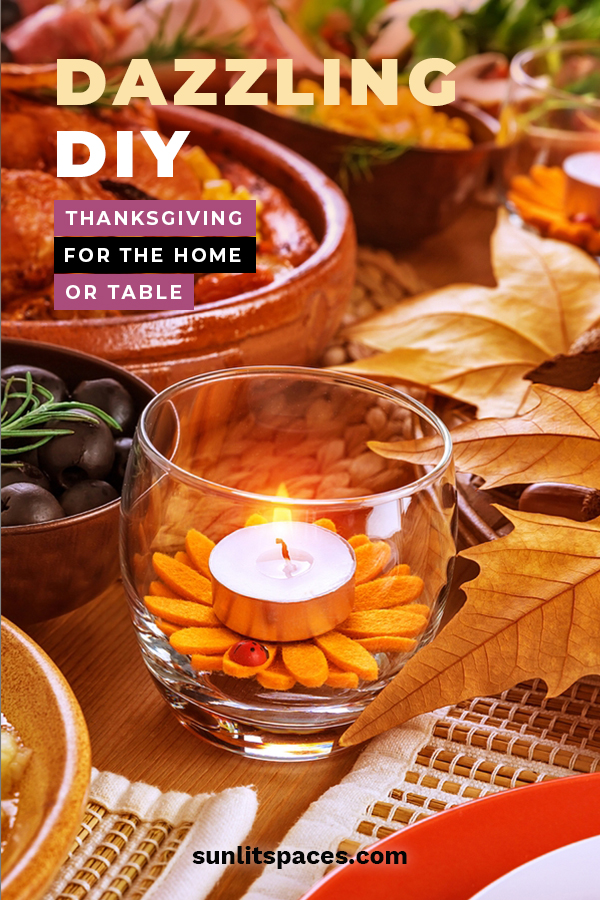 Its that time of year we recognize all the things we have to be thankful for. I'm going to add something to that list with these DIY Thanksgiving decorations for the table, home, and for kids. Get the family together or even the ladies and have fun creating these crafts with those you are thankful for.