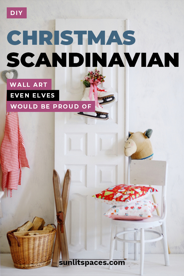 Bring out the inner Viking in you with these DIY Christmas Scandinavian wall art ideas that even elves would be proud of. Scandinavian art and decor is know for its simplicity. The look is so appealing. We have some easy ideas that you can quickly make for your home or to give as gifts. Take a look today! #Scadinavianwallart #Christmaswallart #DIYholidaycrafts