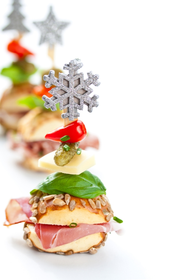 If you're throwing a New Years Eve party, you need to make sure there is food. These sliders can be the perfect solution. For more New Years Eve dinner ideas, look here!