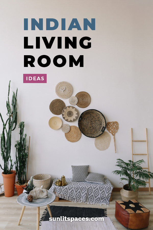 One of the hottest trends in home decor is Indian living rooms. Create an international feel in your home with ideas for lighting, wall hangings, colors and more. Have the hippest living room in town. #indianlivingroomideas #homedecorideas