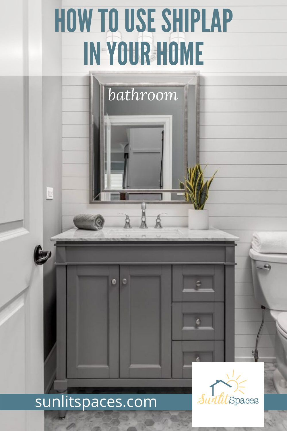 How to use shiplap in your home, in every room, and in some unexpected ways. Shiplap has a special appeal, and you don't have to live in a farmhouse to make it yours! #sunlitspacesblog #howtouseshiplapinyourhome