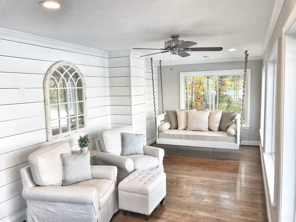 Shiplap isn't just a plain Jane way to cover a wall. Shiplap is more versatile than you may think. Learn how to use shiplap in your sunroom!