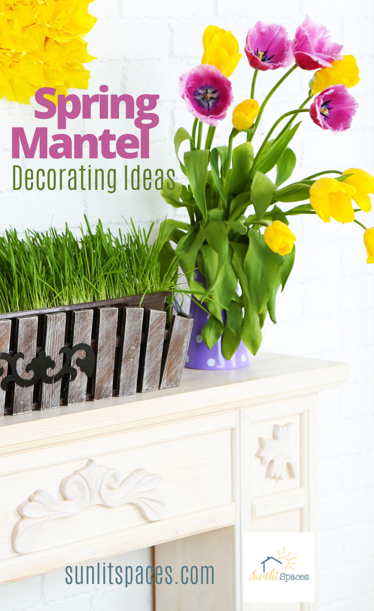 Brighten up your house with a little spring decor. Bring the outside in with these Spring mantel decorating ideas.