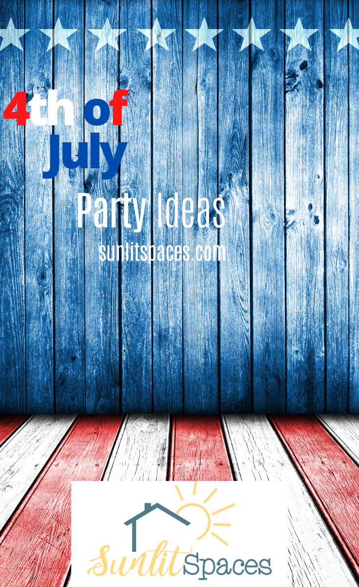 Celebrate the red, white, and blue on the 4th of July with a party. Read this post for food ideas, games, and more. Be patriotic at your party with these ideas. #4thofjuly #themedparties #festivepartyideas #