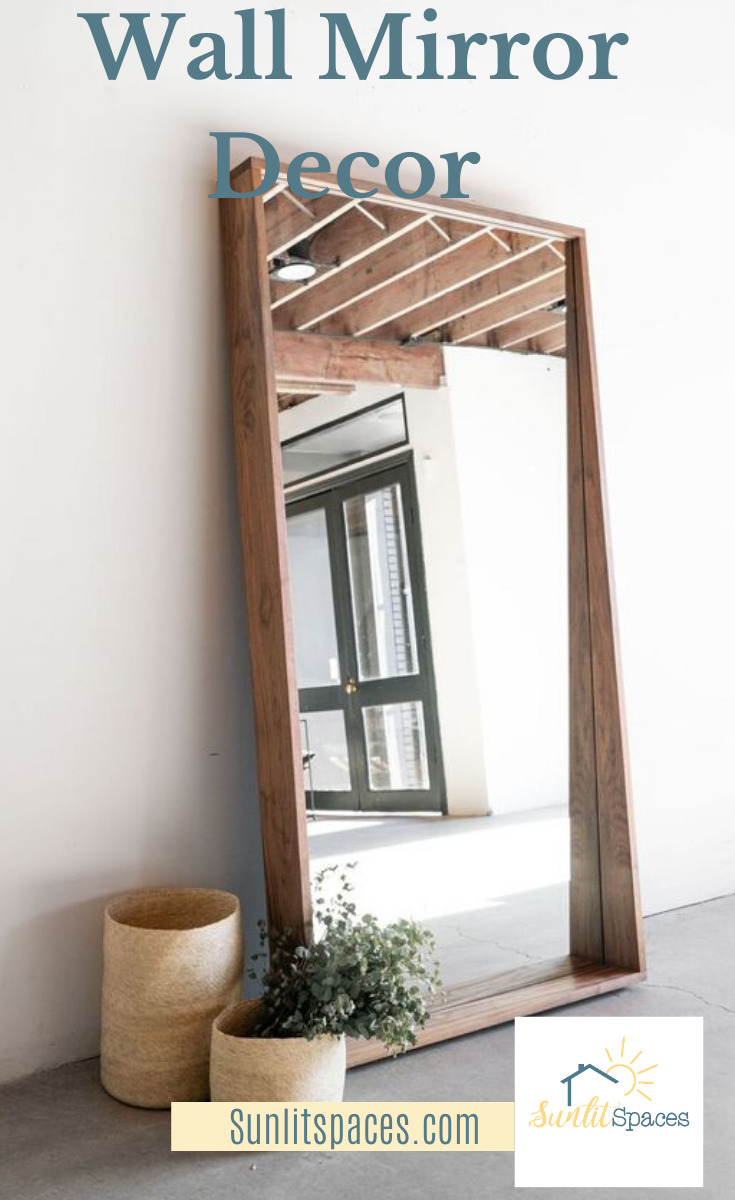Mirrors are so important in home decor. They add a brightness due to the light they reflect and they add a sense that the room or area is larger than it really is. Mirrors come in almost every shape and size and I have some for you. Read on for different styles and where you can buy them. #homedecorideas #mirrorwalldecor #livingroommirrorwalldecor #sunlitspacesblog